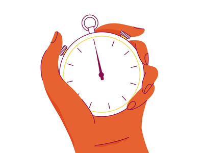 WPX stop watch animation stop watch stopwatch hand characterdesign motion graphics animation motiongraphics motion design studiofourplus fourplus