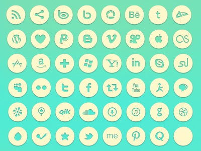 Free Social Icons free icons free vector icons social icons free social icons icon set social set