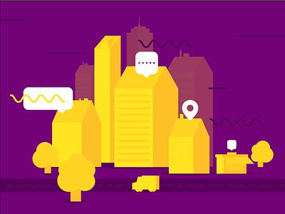 City - Style Exploration buildings illustration vector flat illustration flat 2d town city