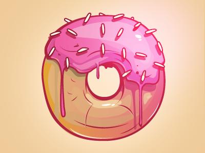 Donut  bulgaria sofia illustration fresh tasty candy donut vector icon sticker