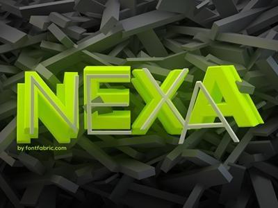 Nexa  font fabric font nexa 3d animation experimental