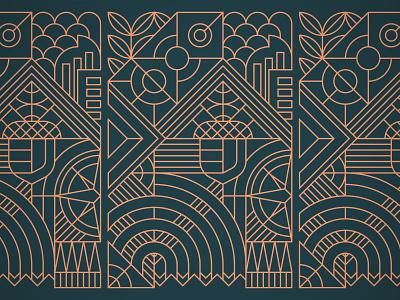 Art Deco Denver steve bullock vectorart art deco pattern design pattern