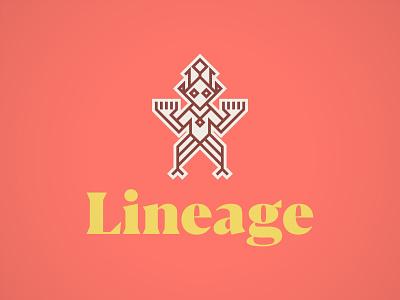Lineage Ancestor Logo steve bullock pattern logo brand identity