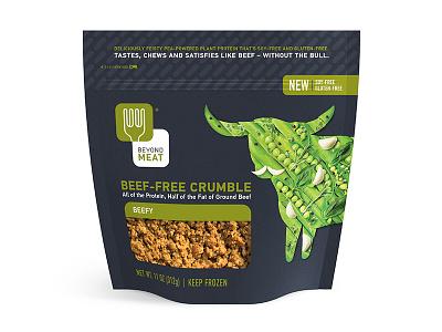 Beyond Meat Beefy packaging cow beef vegan pouch food beyond meat steve bullock