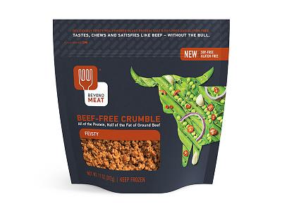 Beyond Meat Feisty packaging cow beef vegan pouch food beyond meat steve bullock