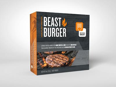 Beast Burger packaging flame icon burger vegan beyond meat steve bullock texture
