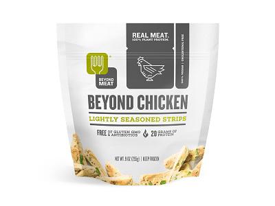Beyond Meat packaging exploration packaging chicken meat flame food illustration beyond meat steve bullock