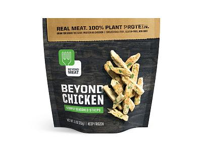 Beyond Meat Butcher Bag texture steve bullock beyond meat chicken vegetarian vegan packaging