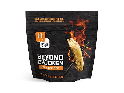 Beyond Meat Flame Bag flame fire texture steve bullock beyond meat chicken vegetarian vegan packaging
