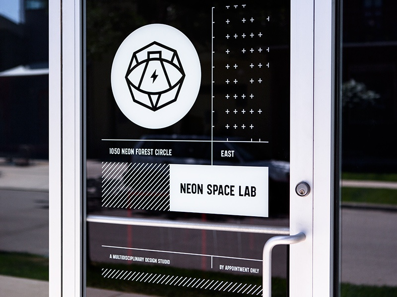 & Neon Space Lab door signage by Steve Bullock - Dribbble Pezcame.Com