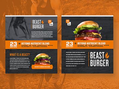 Beast Burger landing pages beyond meat steve bullock texture vegan burger landing page html food digital branding