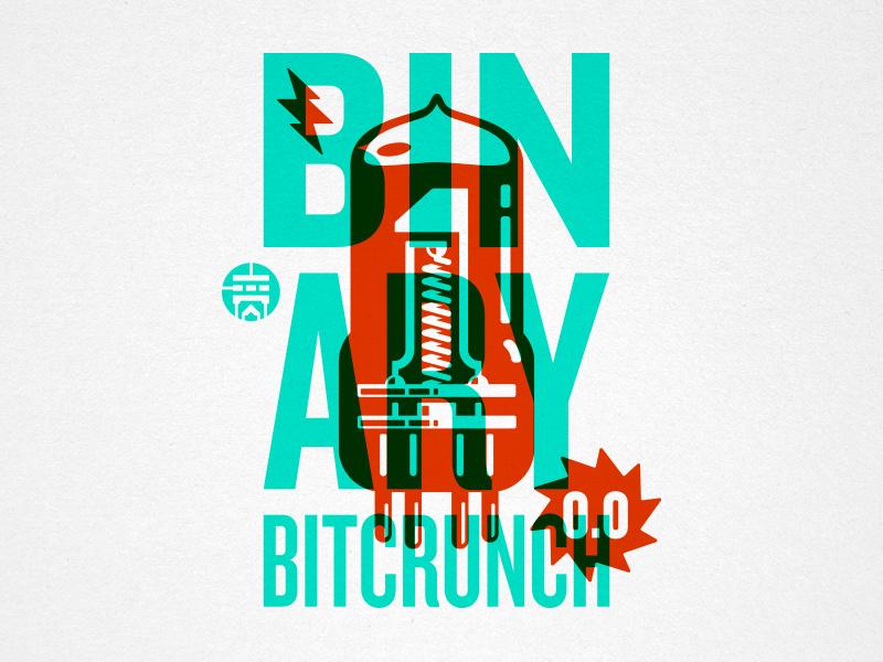 Binary Bitcrunch steve bullock illustration overprint electronic binary lightning vacuum tube