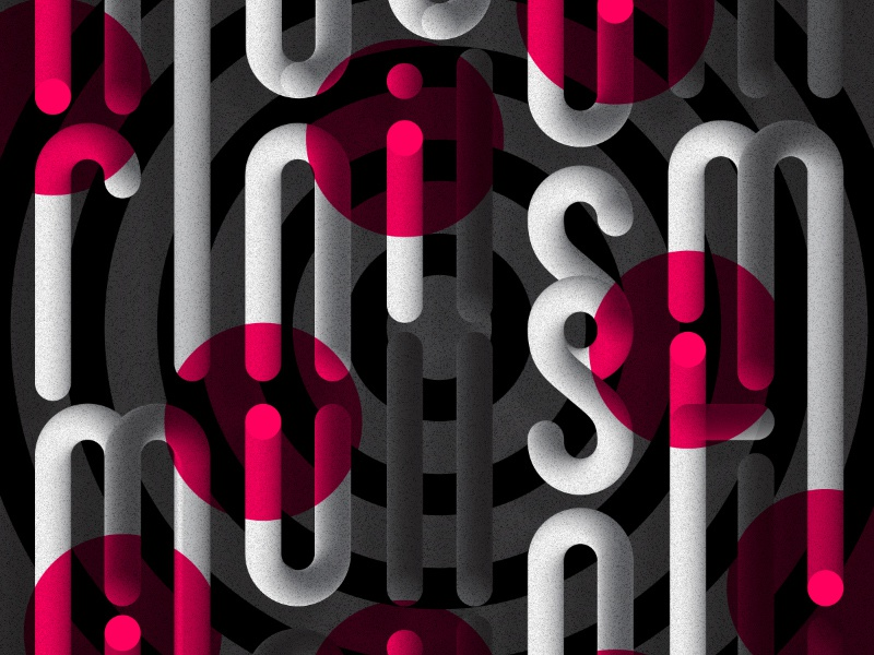 Modernism Must Die steve bullock pattern dots tube target modern vector typography