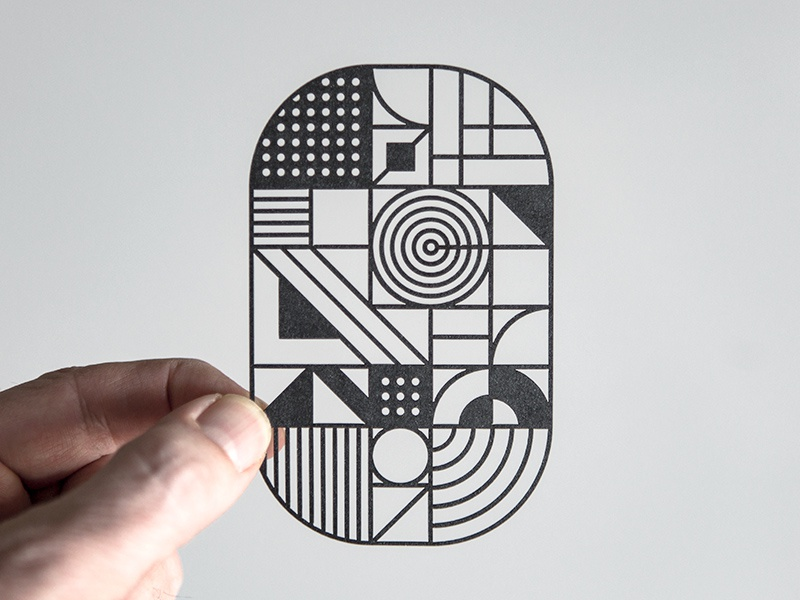 Laser O steve bullock pattern paper laser geometric