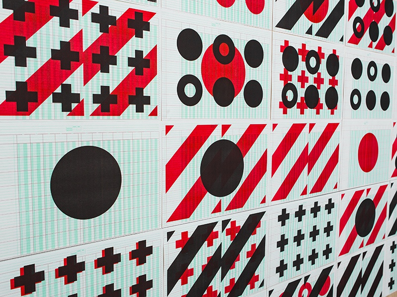 Signal Pattern steve bullock pattern signal geometric overprint riso