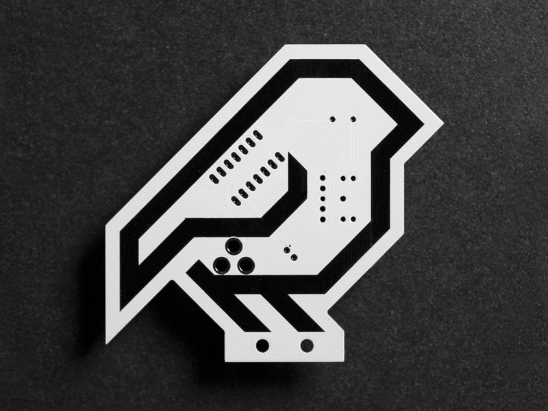 Synth Bird PCB electronics vector steve bullock bird icon