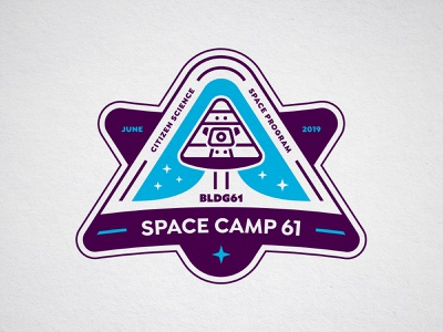 Space Camp 61 steve bullock logo icon space patch