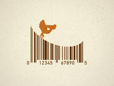 Roller Chicken beyond meat upc barcode chicken roller skate icon steve bullock