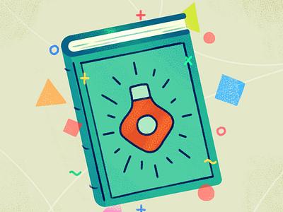 The Guidebook healthcare texture design illustration editorial manual book