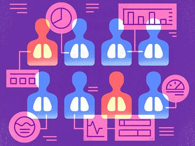 Surveillance Data editorial measure metrics network collect information texture design illustration