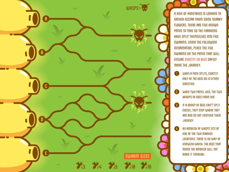 Bee Puzzle by Hayden Aube   Dribbble   Dribbble