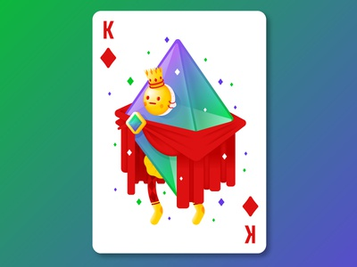 King of Diamonds royal character mask magic clubs hearts spades diamonds pip suit cards playing