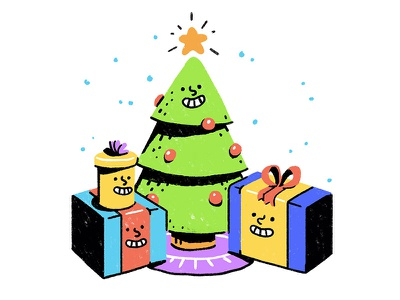 Happy Holiday Giveaway festive winter season face character contest giveaway happy star present tree christmas