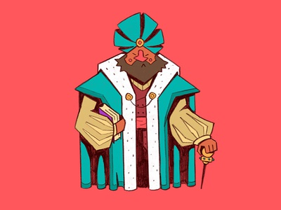 Aristocrat shrewd rpg fantasy noble robes cane scholar merchant design character