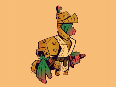 Cactus Knight By Hayden Aube On Dribbble