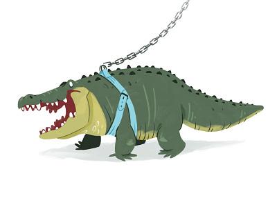 Spike character quest character design pet reptile crocodile alligator fantasy quest texture cartoon happy design illustration character