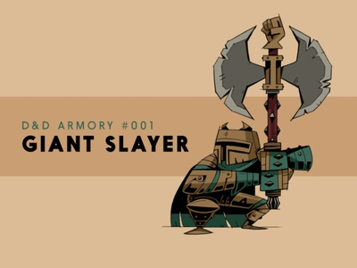 Giant Slayer texture design illustration characterdesign concept art character knight sharp giant roleplay rpg fantasy dnd dragons dungeons axe weapon