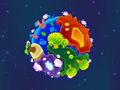 Final Planet rock lava trees moon galaxy universe spaceship star stellar game art game design game space planet molten jungle storm ocean