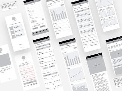 Track Your Baby's Milestones - Wireframe _ App tracking app android app design ios app design product design dashboad branding ui admin dashboard ux typography minimal 3d 2d app wireframe design