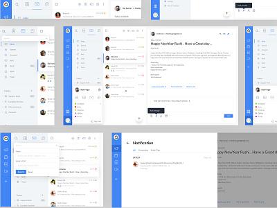 Gmail Redesign Web UI kit