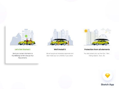 Illustration for Car Umbrella