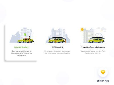Illustration for Car Umbrella designer portfolio agency agency landing page branding admin dashboard typography crm 1st shot minimal uxdesign uidesign illustration art illustraion car