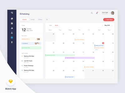 Scheduling Made Simple sketchapp adobe xd vector admin dashboard android 1st shot ui ux typography admin panel minimal scheduling made simple