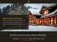 Hirsh Log Homes website