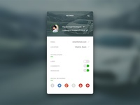 Daily UI - #007 - Settings (Profile)