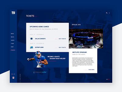 New York Giants - Web design #1 tickets football web redesign ny layout new york giants nfl website ux ui interface