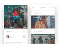Marvel Movies - Mobile App Design #2