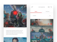 Marvel Movies - Mobile App Design #3