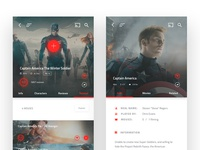 Marvel Movies - Mobile App Design #4