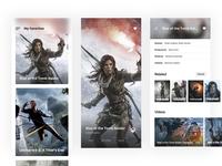 Games - Mobile App Design