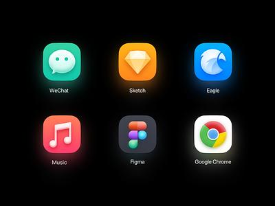 My Big Sur icon eagle sketch wechat macos macos icon apple 3dicon vector illustration design ui appicon icon 3d big sur