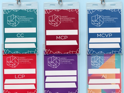Name tags for AIESEC International Congress 2016