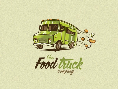 The Food Truck Co food truck burger fast food van sandwich hotdog company illustrative logo