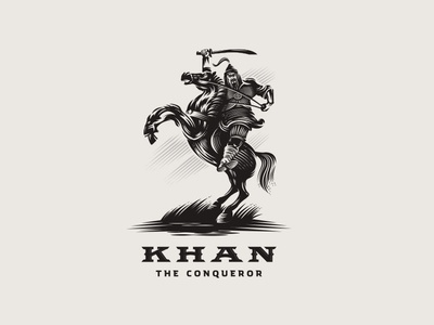 Khan The Conqueror victory conqueror warrior armor illustration leader sword battle knight helmet barbarian