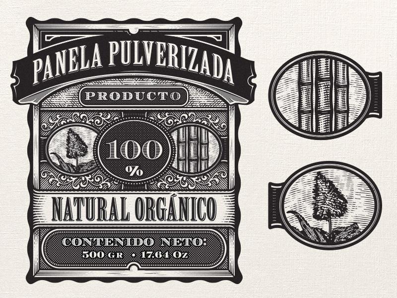 Mesa baja vintage packaging