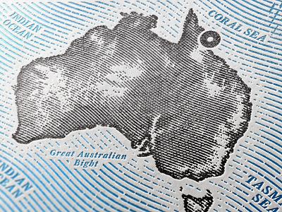 Map of Australia engraving vector drawing retro vintage cartography australia